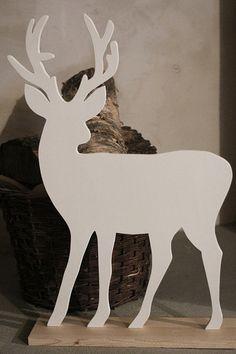 Renifer na podstawie - SeeHome - Dekoracje bożonarodzeniowe