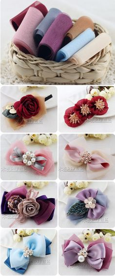 Discover thousands of images about Bows Ribbon Art, Diy Ribbon, Ribbon Crafts, Fabric Crafts, Diy Hair Bows, Ribbon Hair Bows, Hair Bow Tutorial, Barrettes, Hairbows