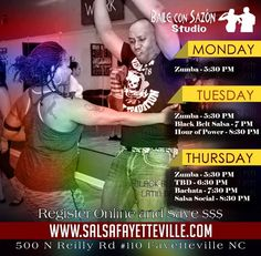 Try something new and fun! Join Fayetteville's Happiest Latin Dancers every Tuesday for Black Belt Salsa at 500 N Reilly Rd #110 7 PM. This is the BEST QUICKEST way to learn this wonderful dance.   After that  enjoy our BBS Hour of Power at 8:30 PM to practice what you've learned. Nothing but the best Salsa and Bachata plus a bit of Merengue Cha Cha and Kizomba for your dancing pleasure.   Every Thursday is  Bachata class at 7:30 PM.   After that enjoy our Latin Dance Social at 8:30 PM…