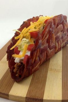I must learn to make bacon taco shells