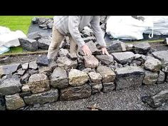 Wall building advice from stonemason Michael Fearnhead - YouTube