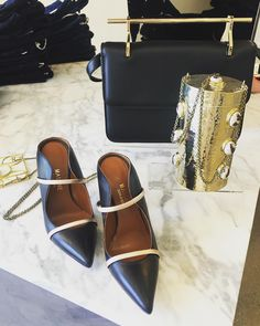 #Repost @aprilmarierand83 Malone Souliers black and rose gold nappa Maureen, available at @atelier7918. #MaloneSouliers #Atelier7918 #RoyLuwolt #MaryAliceMaloneJr