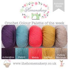 Crochet Colour Palette: Autumn Spice featuring Rico Essentials Merino Aran - The Homemakery Blog