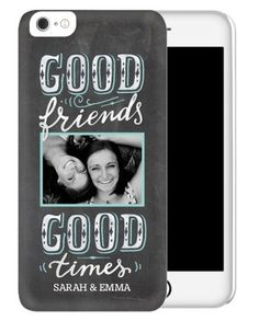 iPhone Cases: Chalkboard Friends, Slim case, Matte, iPhone 6 Plus, Grey