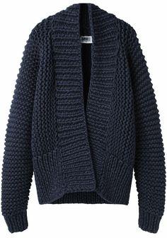 :  MM6 by Maison Martin Margiela Chunky Hand-Knit Cardigan