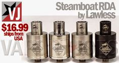 Vapor Joes - Daily Vaping Deals: THE STEAMBOAT RDA (TUGBOAT V2) BY LAWLESS - $16.99...