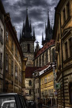 Dark Prague, Czech Republic,,love the Gothic atmosphere. Places To Travel, Places To See, Places Around The World, Around The Worlds, Wonderful Places, Beautiful Places, Bósnia E Herzegovina, Europe Centrale, Prague Travel