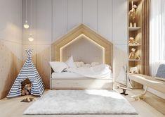 Small apartment- Scandinavian spaces on Behance Kids Bedroom Designs, Kids Room Design, Room Kids, Bedroom Ideas, Living Room Interior, Interior Design Living Room, Baby Room Decor, Luxurious Bedrooms, Girl Room