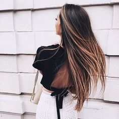 Long hair dreams  This is such a pretty hair color on @caro_e_! If you like this color mix, you'd love our Ombre Chestnut #luxyhair set