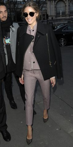 Olivia Palermo arrives at the Paul & Joe autumn/winter '14 show at Paris Fashion Week - 4 March 2014