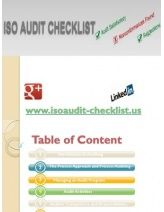 ISO AUDIT CHECKLIST is the documents design to confirming all the requirements of the ISO standards in organization. ISO audit checklist is an important documents as ISO manual, SOP, work instruction and other iso documents require for any ISO standard system implementation and iso certification.