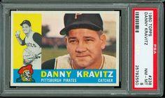 1960 TOPPS BASEBALL #238 DANNY KRAVITZ PSA 8