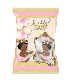 HELLO BABY Personalized Treat Bag/Chip Bags/Favor bags/Candy bags/Baby Shower/Birth Announcement/Birthday/Partially Assembled by 1ChicNCraftyMama on Etsy