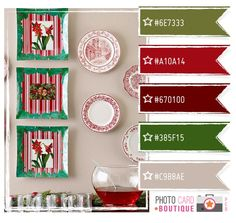 Christmas reds & greens | Color Combinations | Pinterest