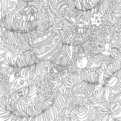 The Magical Christmas Coloring Book by Lizzie Mary Cullen - Coloring Pages Colorful Christmas Tree, Magical Christmas, Christmas Colors, Christmas 2017, Christmas Ideas, Christmas Coloring Pages, Coloring Book Pages, Colouring Sheets, Winter Magic