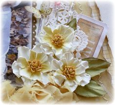 Such a Pretty Mess - video tutorial on how to make water distressed paper flowers