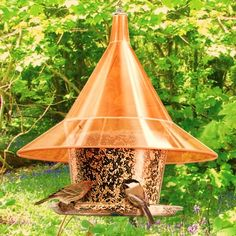 Sunset Orange Sky Cafe Bird Feeder-BackyardBirdWatcher.com