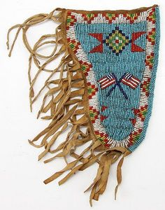 Sioux beaded pouch