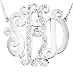 Mono20 White Rhodium Plated Sterling Silver 1.5 by SilverNStyle, $113.99
