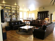 Plenty of space for relaxing and enjoying your time at Stone Eagle Retreat. Malibu Mansion, Ideal Home, Eagle, Villa, Relax, Couch, Vacation, Mansions, Space