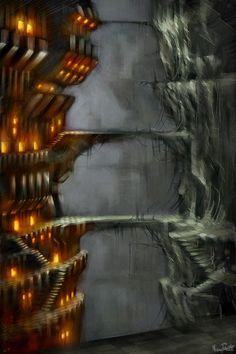 dwarven city concept art - Google Search