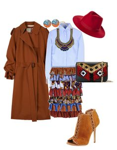 """""""African Wax/Tribal prints"""" by prettyabryllya on Polyvore featuring Marni, Stella Jean, Michael Kors, Brixton and Les Petits Joueurs"""