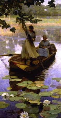 artemisdreaming:  Return from the Market Sir John Lavery Artemis: see archive for more John Lavery