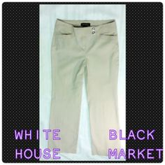 WHITE HOUSE & BLACK MARKET PANTS White & Black Pants Size OR Modern Boot Cut Excellent Condition! White House Black Market Pants
