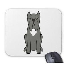 DOG BREED CARTOON Neapolitan Mastiff Mouse Pad #BullyDogNation