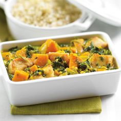 This family-friendly curry has a perfect mix of sweetness and spice. Make it milder by using mild curry powder, spicier by using hot. PC Frozen Brown Rice makes a perfect accompaniment. Indian Food Recipes, Whole Food Recipes, Cooking Recipes, Family Recipes, Chicken Sweet Potato Curry, Fresh Chicken, Chicken Curry, Heart Healthy Recipes, Yum Yum Chicken