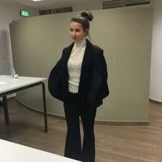 Day III of external juries for Tailoring/ Outerwear. Jacket cut on the principle of circles. Student: Joya.