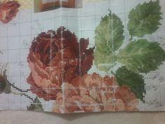 Geri Dönüşüm Projeleri Cross Stitch Flowers, Cross Stitch Patterns, Diy Crafts, Painting, Craft, Towels, Tablecloths, Flowers, Do It Yourself