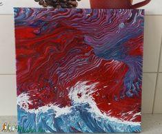 Sarki Fény a Hullámok Felett (StoneHEArt) - Meska.hu Techno, Painting, Painting Art, Paintings, Techno Music, Painted Canvas, Drawings