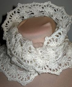 Crochet Angora Cowl Pattern - requires knowledge of broomstick lace; there's a link to a site with info about it