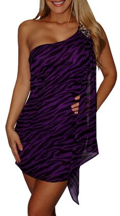 Purple Zebra Print Dress only $33!