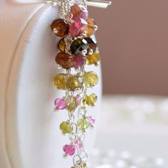 Tourmaline Jewelry Sterling Silver or Gold by livjewellery on Etsy