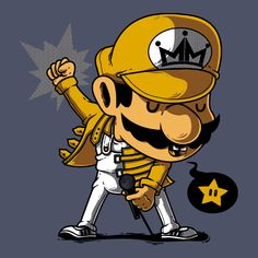 Mario Mercury de RuaDos - Camisetas Pampling.com Mundo Super Mario, Super Mario Art, Mario And Luigi, Mario Bros, Pop Culture References, Cartoon Crossovers, Dope Art, Video Game Art, Anime Comics