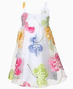 Bonnie Jean Kids Dress, Little Girls Sequin Organza Dress - Kids - Macy's