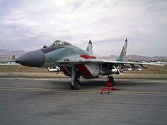 MiG-29SE de la Fuerza Aérea del Perú en 2007.