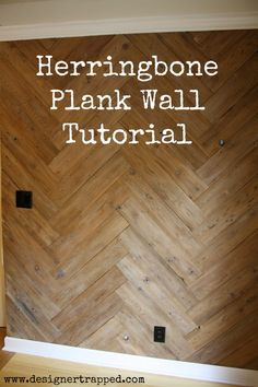 MUST PIN! DIY Herringbone Plank Wall Tutorial by Designer Trapped in a Lawyer's Body. Full tutorial!