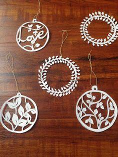 SimpleJoys: Hand Cut Paper Ornaments