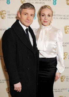 Amanda Abbington & Martin Freeman, EE British Academy Film Awards  #http://t.co/Ry3ateGt