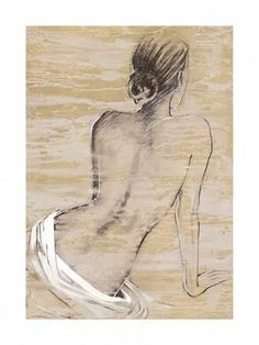 Retreat I Arte por Saro en AllPosters. Sketch Painting, Figurative Art, Painting Inspiration, Female Art, Art Drawings, Art Projects, My Arts, Fine Art, Art Prints