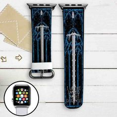 Game of Thrones Sword Custom Apple Watch Band Leather Strap Wrist Band Replacement