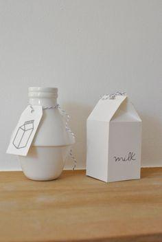 Image of Brique de lait + son étiquette