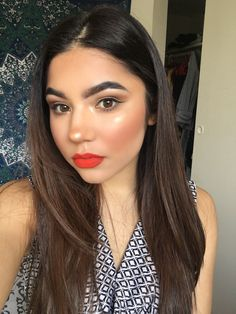 Anastasia Beverly Hills Liquid lip in 'Spicy' and Highlight in 'so hollywood'