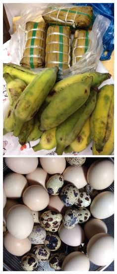 Packing some banana buns and bananas and eggs the night before con dao archipelago islands Vietnam