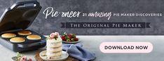 21 new pie maker recipes from sunbeam Sunbeam Pie Maker, Small Kitchen Appliances, Food Processor Recipes, Banner, Eat, Banner Stands, Banners