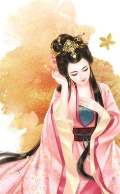 @紫竹水云轩采集到画中仙~镜中人(1294图)_花瓣插画/漫画