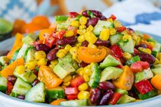Quick Sweet + Spicy Summer Salad is Super Yummy and Clean Eating Friendly! - Clean Food Crush